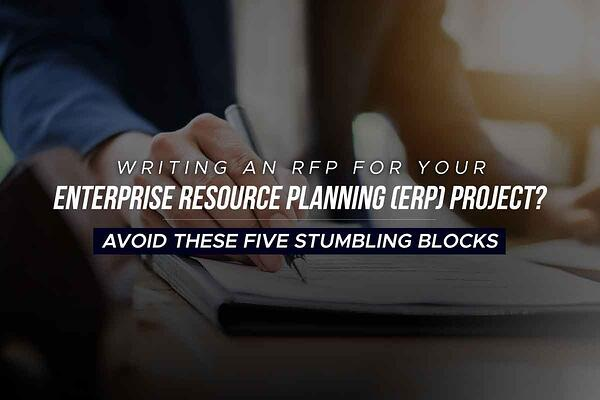 Writing an RFP for ERP