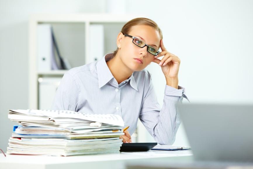 Overwhelmed HR Worker