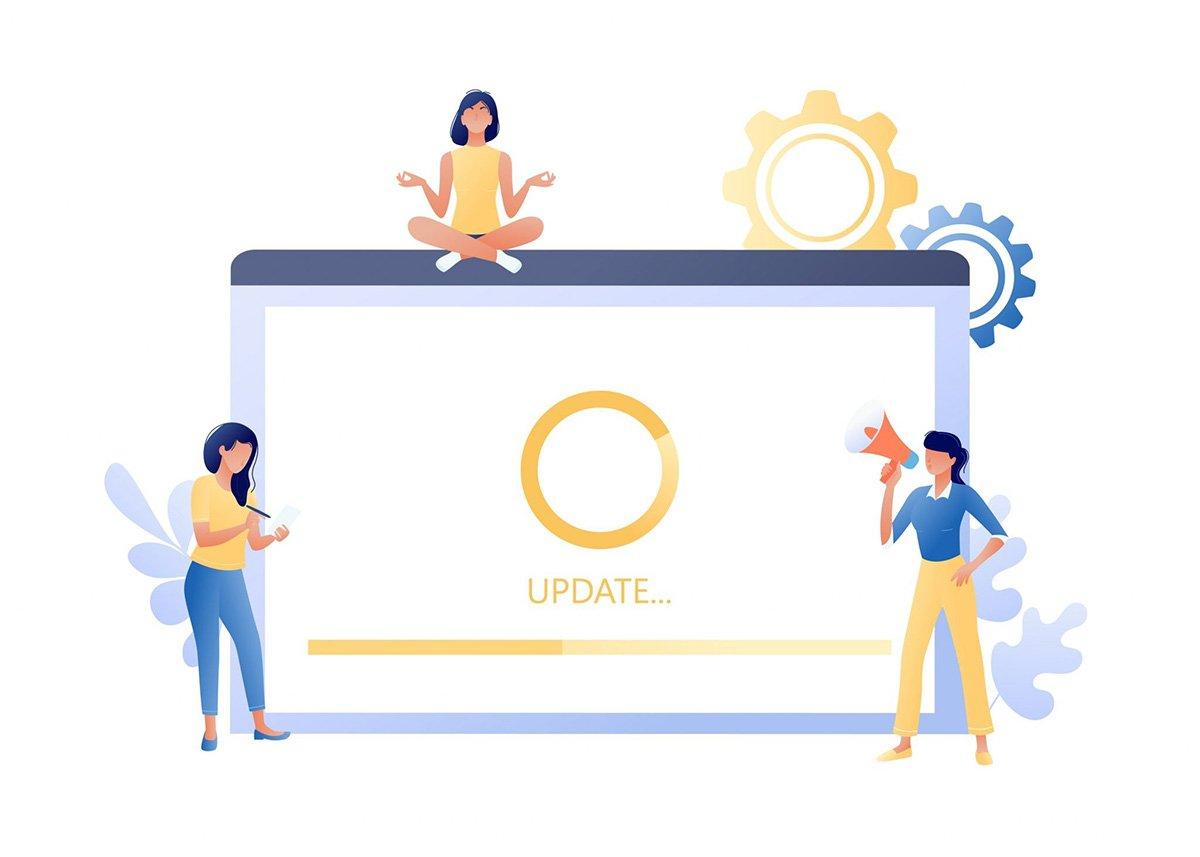 Illustration of Post-Go-Live: Updating ERP System