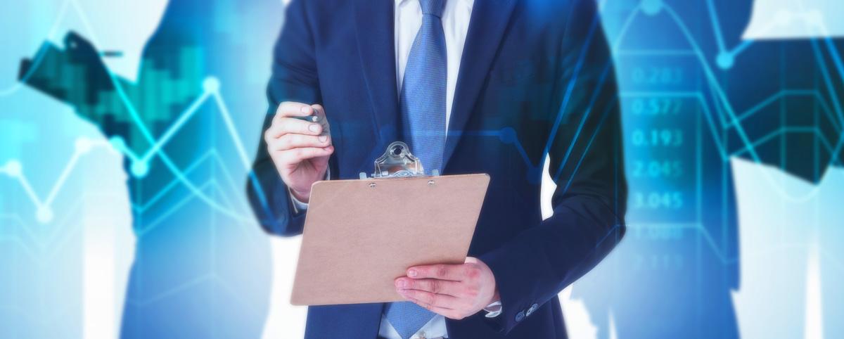CFO holding clipboard