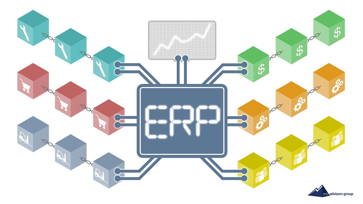 ERP Blockchain illustration